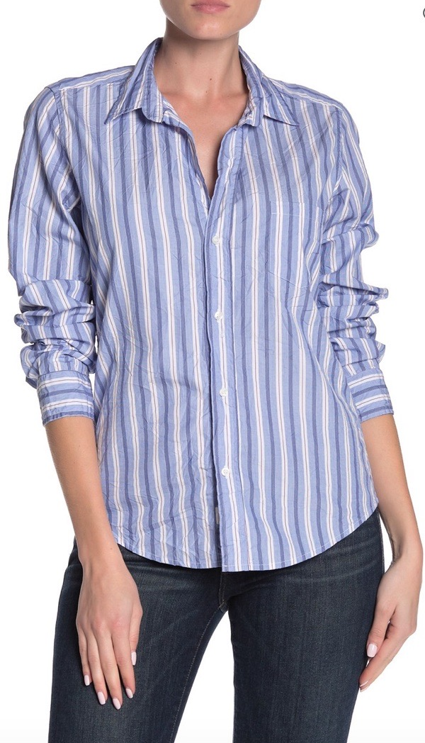 wearable-summer-2020-fashion-trends-striped-button-down-shirt-FRANK-and-EILEENBarry- nordstromrack