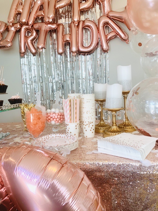 gold-silver-party-decoration-ideas-rose-gold-happy-birthday-helium-balloons