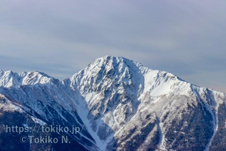 鳳凰三山から見る北岳