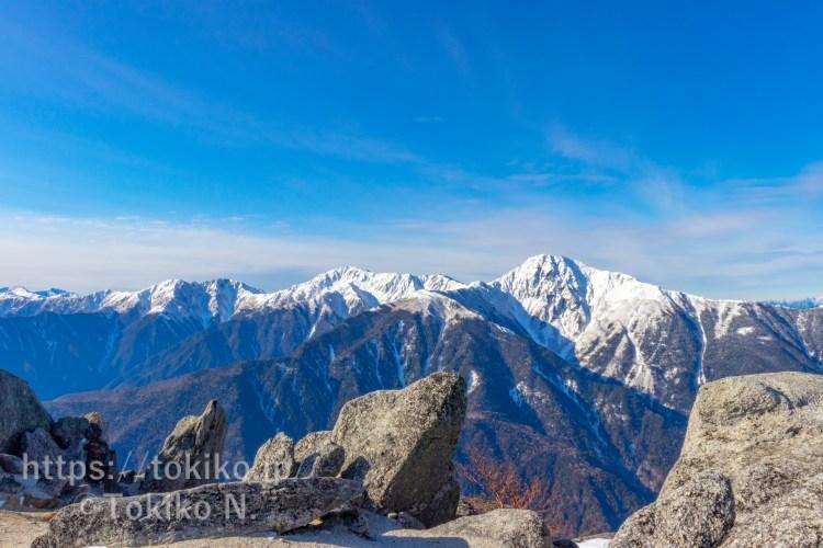 鳳凰三山から見る白峰三山