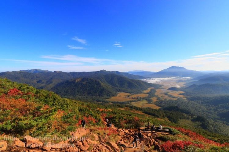 至仏山からみた尾瀬ヶ原と燧ヶ岳・会津駒ヶ岳・平ヶ岳