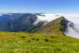 仙ノ倉山から見る雲海と滝雲