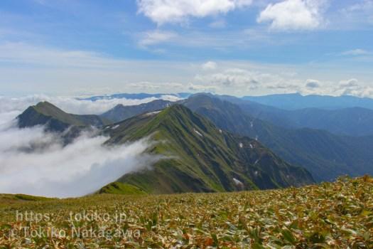 谷川岳から万太郎山、仙ノ倉山