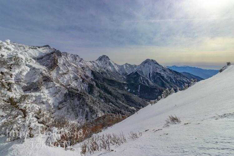 硫黄岳登山道から赤岳・阿弥陀岳・横岳