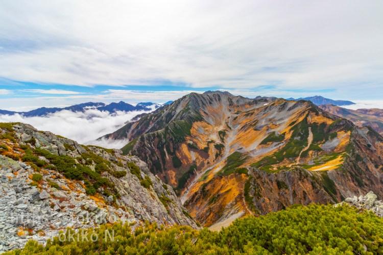 剱岳山頂から剱沢・立山
