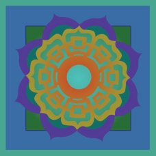 Some mandalas I created for a string of prayer flags.