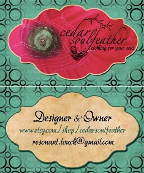 Here you can see the front & back of these gorgeous business cards.