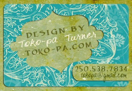 My whimsical business card.