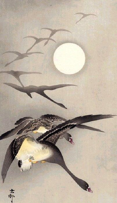 Painting by Ohara Koson