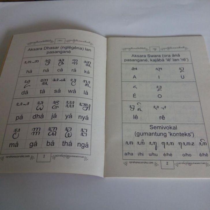 Isi Buku Ringkasan Aksara Jawa Lengkap Komplit Pepak