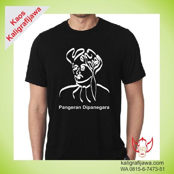 Kaos Kaligrafi Jawa Pangeran Dipanegara
