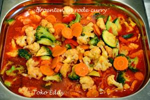 Groenten in rode curry