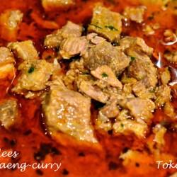 Rundvlees in Panaeng-saus
