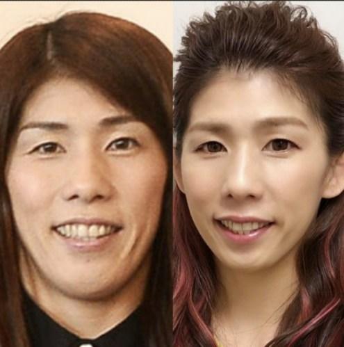 吉田沙保里のカラコン装着前と装着後の比較