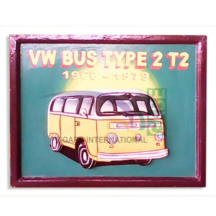 LUKISAN REPRO ANTIK VW BUS TYPE 2T2
