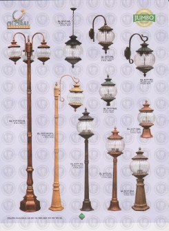 115 LAMPU PILAR DINDING ANDONG DELMAN MALIOBORO