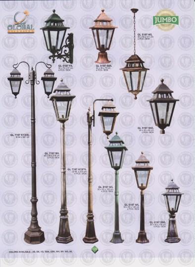 129 LAMPU PILAR DINDING ANDONG DELMAN MALIOBORO