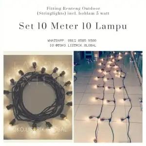 stringlights 10 meter 10 lampu outdoor cafe yogyakarta