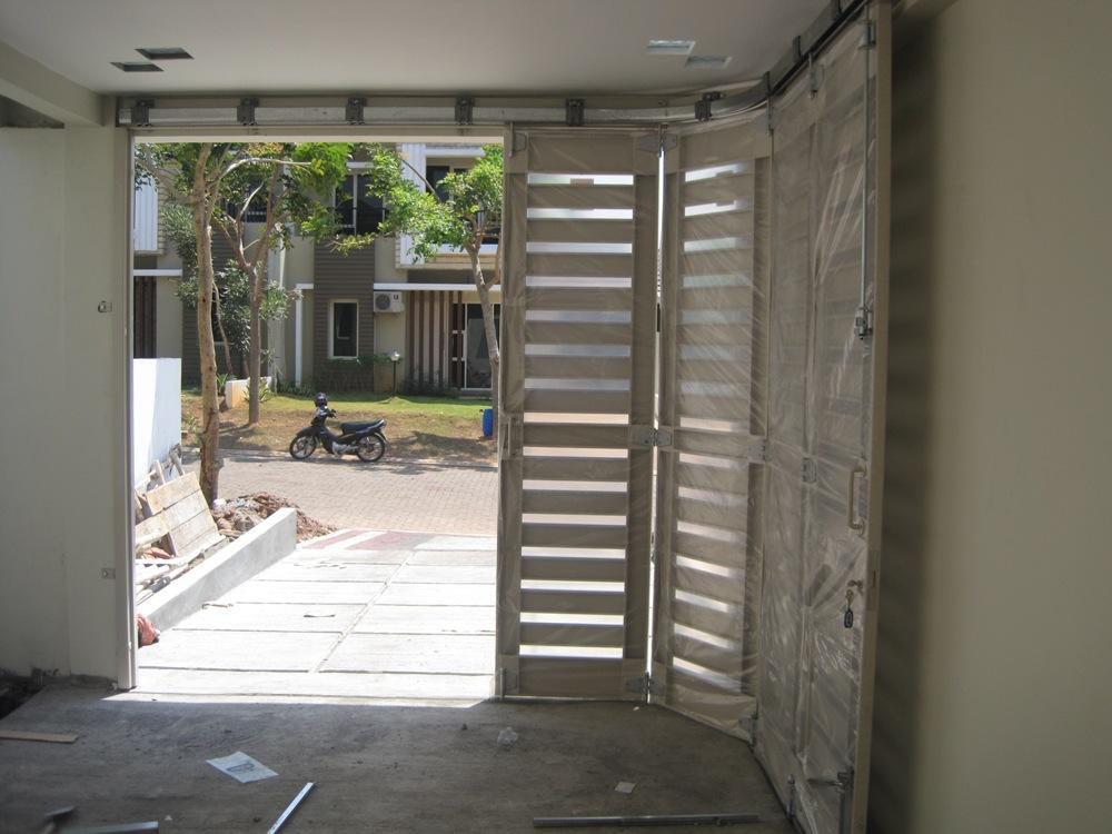 Jual Pintu Garasi Besi Dorong Tikung Lipat Murah Jual