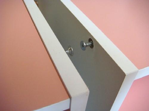 カラーボックス 棚用 ネジ状態