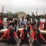 名古屋から社員旅行で9名の和太鼓体験!!