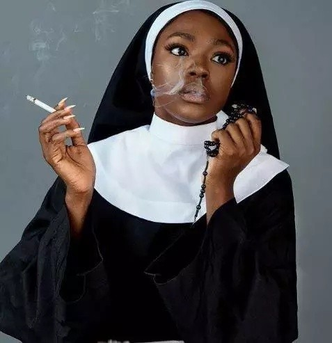 Annie Idibia, Paul Okoye, Yungsix, others support Beverly Osu over her controversial 'Catholic nun' photos