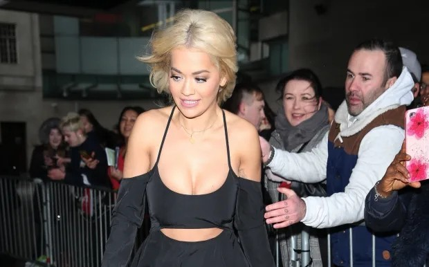 British singer - Rita Ora Boobs Fondled by Fan in London
