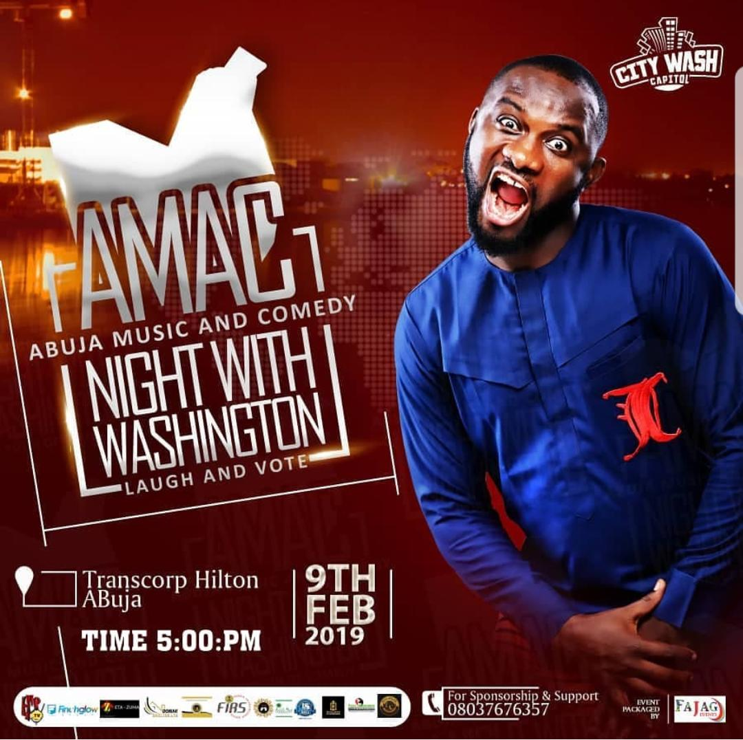 Washington Returns Home with Abuja Music and Comedy Night (AMAC)