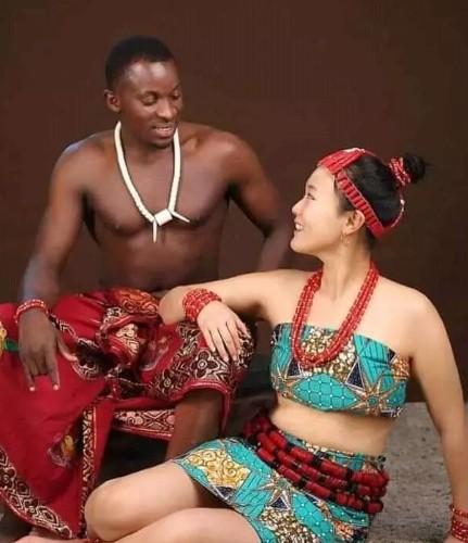 Pre - Wedding Photos of Nigerian Man and His Korean Bride Breaks the Internet