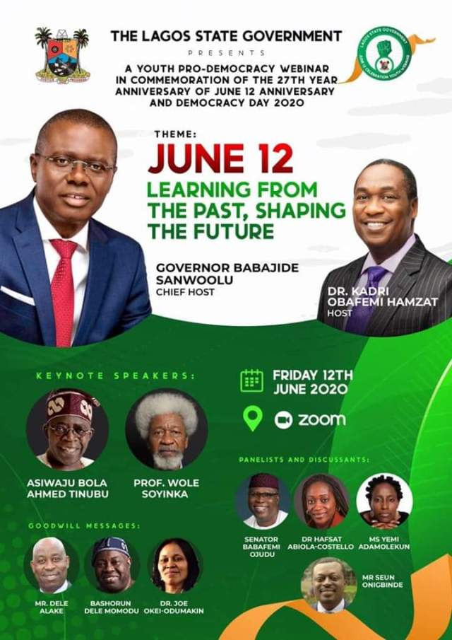 Invitation to Attend Youth Pro-Democracy Webinar by Lagos State Government