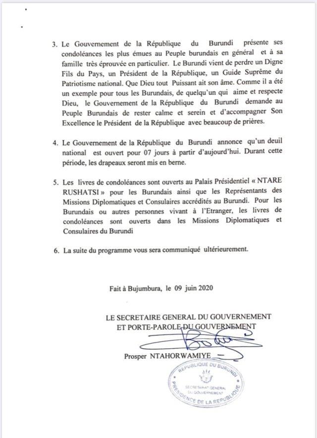 President of Burundi  - Pierre Nkurunziza Dies at 55