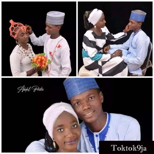 See Photos of 16yrs Old Boy Who Married His 15yrs Old Lover