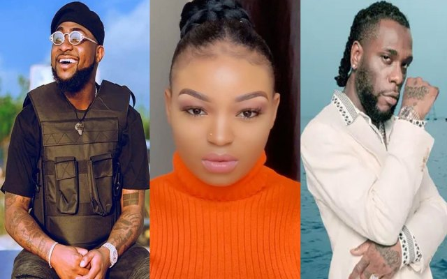 Instagram model, Coco Brown turn down Burna Boy, Flavour And Davido; Says She Will Like To Marry Lyta While On IG Live Interview With Actor, Somadina.