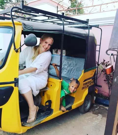 First Oyibo Woman to Ride Keke