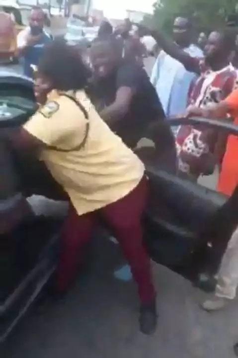 Lastma Officer Caught Fighting
