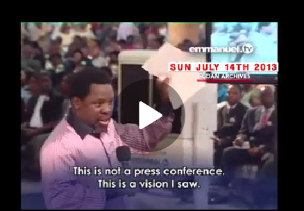T. B. Joshua's Prophecy About Protest
