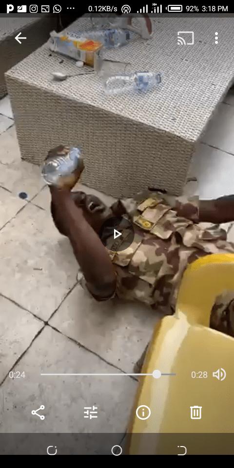 Soldier Allegedly Runs Mad