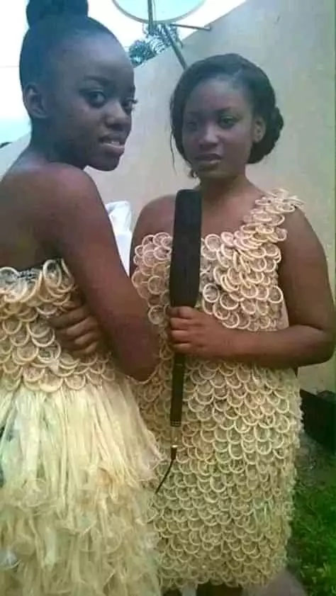 Dress From Used Condoms