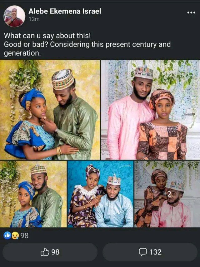 Good or Bad? Nigerians React to Wedding Photos of A 14-year-old Muslim Girl and Her 30-year-old Husband
