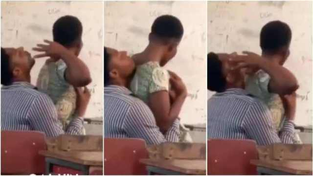 Student and Teacher Caught Ch£wing