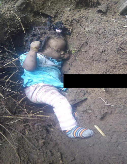 Evil and Heartless! Man Caught While Burying His Baby Alive for Money Rituals (VIDEO)