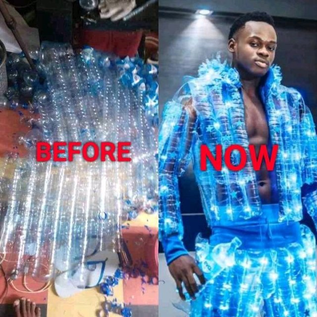 PURE TALENT: See What This Nigerian Boy Made From Plastic Bottles (PHOTOS)