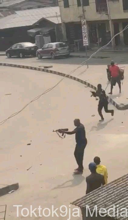 Tension in Lagos As Policemen Allegedly Shot Dead Three Okada Riders (VIDEO)