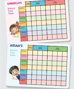 Magnetic School Timetables