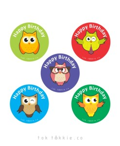 tok tokkie Teachers Reward Labels – OWLS BDAY Large