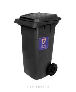 toktokkie WHEELY BIN LABELS – Blue & Orange 1