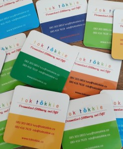 tok tokkkie business cards