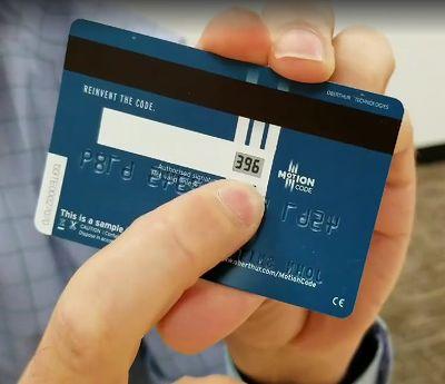 クレジットカードのモーションコード