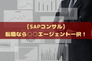 【SAPコンサル】転職なら○○エージェント一択!