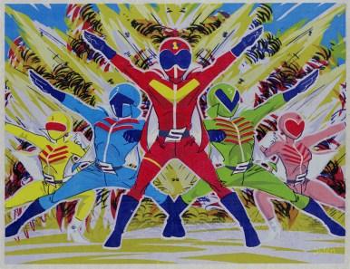 Super Sentai Silkscreen Print